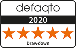 Defaqto 5 star rating for drawdown logo