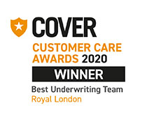 Cover customer care awards 2020 - Winner Best Underwriting Team