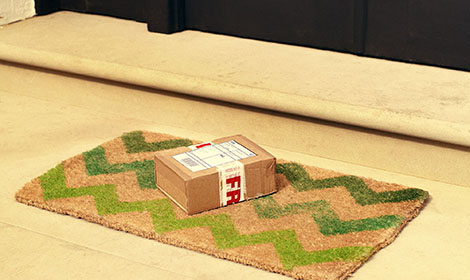 Parcel on a doorstep