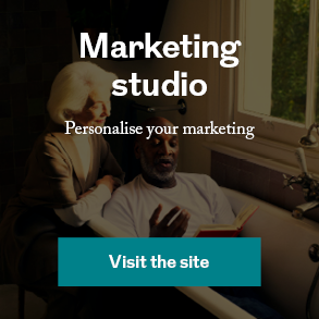 marketing studio, personalise your marketing, visit the site